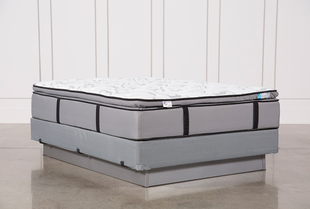 Gel Springs Plush Queen Mattress W/Foundation