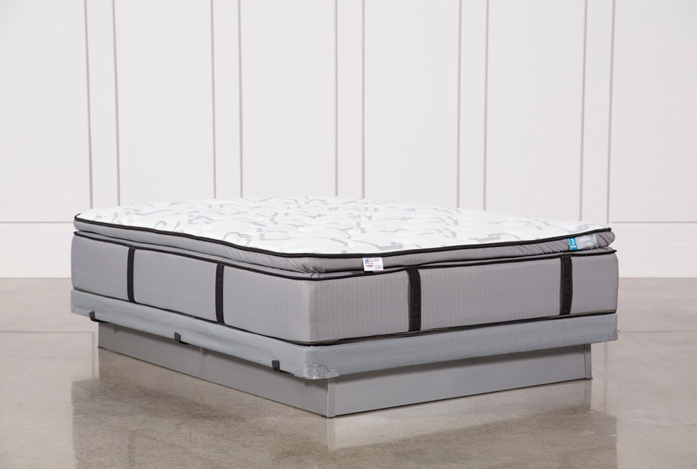 Kit-Revive Gel Springs Plush Queen Mattress W/Low Profile Foundation