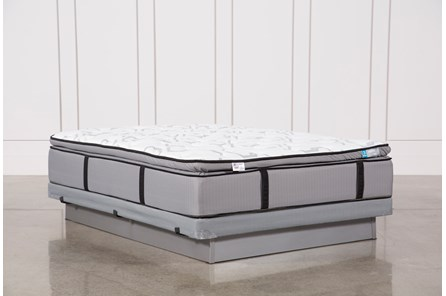 Gel Springs Plush Queen Mattress W/Low Profile Foundation