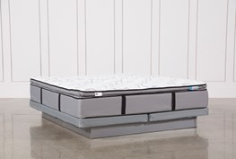 Gel Springs Plush Cal King Mattress W/Low Profile Foundation