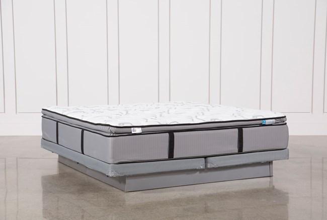 Gel Springs Plush Cal King Mattress W/Low Profile Foundation - 360