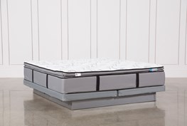 Gel Springs Plush Eastern King Mattress W/Low Profile Foundation