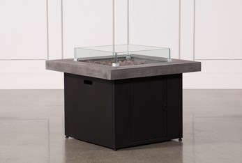 Concrete & Glass Outdoor Firepit