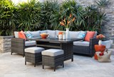 Outdoor Domingo Banquette Dining Table - Room