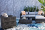 Outdoor Domingo II Sofa W/Reversible Chaise & Cocktail Table - Room