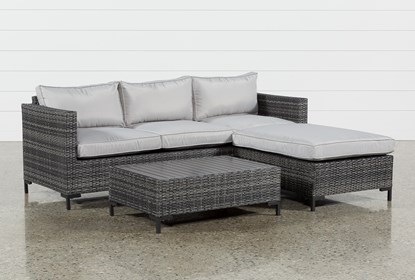 Outdoor Domingo Ii Sofa W Reversible Chaise Coffee Table
