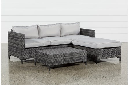 Outdoor Domingo II Sofa W/Reversible Chaise & Cocktail Table - Main