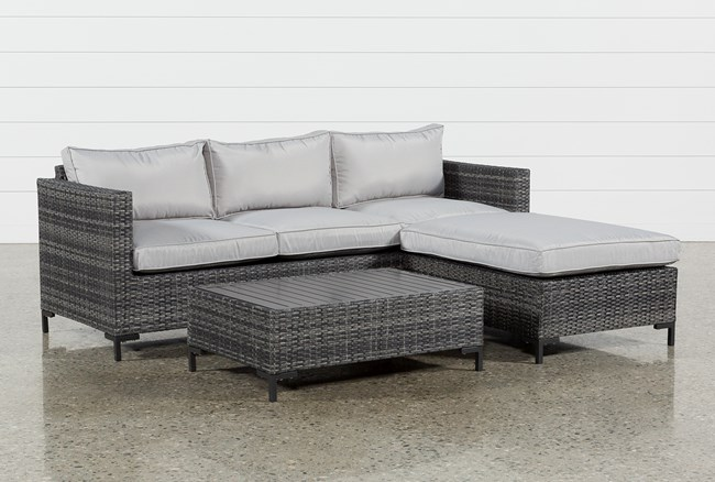 Outdoor Domingo II Sofa W/Reversible Chaise & Coffee Table - 360