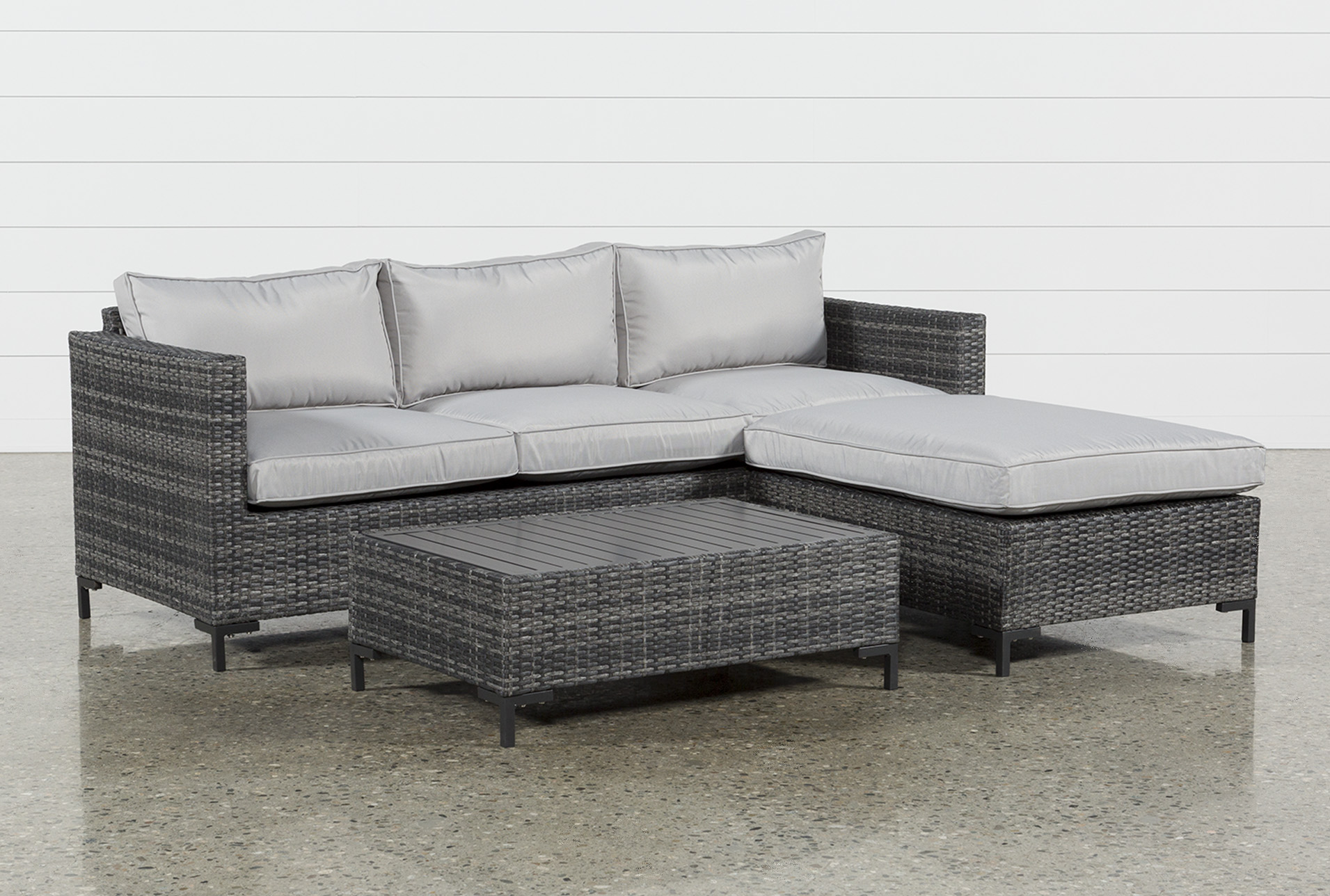 Outdoor Domingo II Sofa W/Reversible Chaise U0026amp; Cocktail Table (Qty: 1)  Has Been Successfully Added To Your Cart.