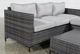 Outdoor Domingo II Sofa W/Reversible Chaise & Cocktail Table - Top