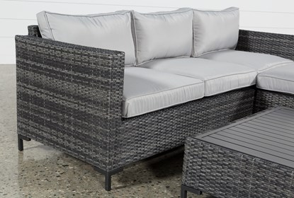 Outdoor Domingo II Sofa W/Reversible Chaise & Coffee Table