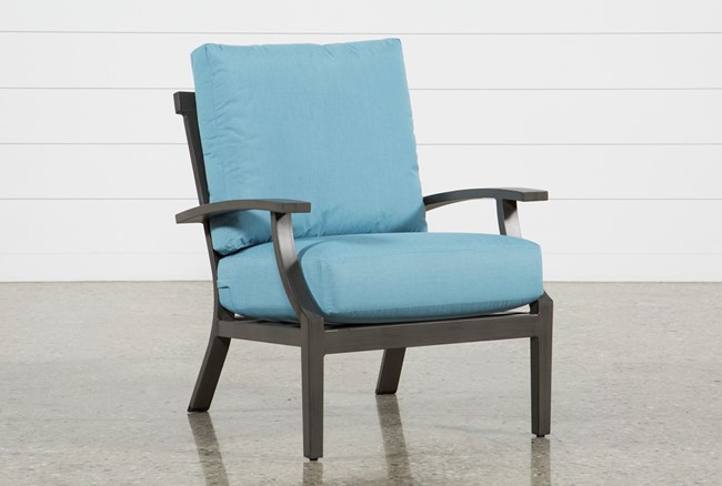Outdoor Martinique II Aqua Lounge Chair - 360