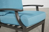 Outdoor Martinique II Aqua Lounge Chair - Top