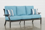 Outdoor Martinique II Aqua Sofa - Signature