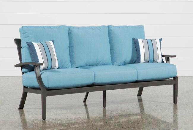 Outdoor Martinique II Aqua Sofa