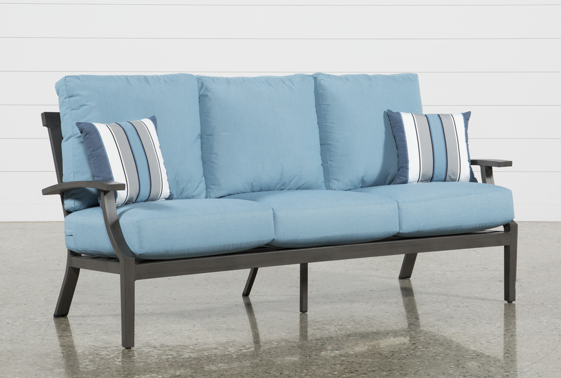 Gentil Outdoor Martinique II Aqua Sofa (Qty: 1) Has Been Successfully Added To  Your Cart.