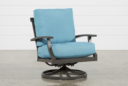 Outdoor Martinique II Aqua Swivel Rocker