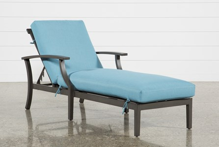 Outdoor Martinique II Aqua Chaise Lounge