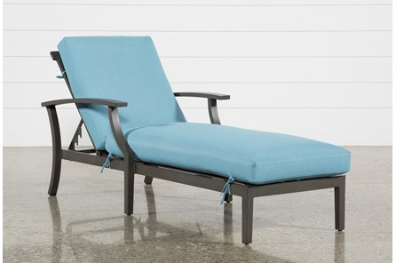 Outdoor Martinique II Aqua Chaise Lounge - Main