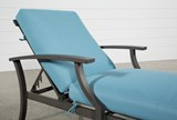 Outdoor Martinique II Aqua Chaise Lounge - Top