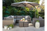 Outdoor Koro Cocktail Table W/ 2 Ottomans - Room