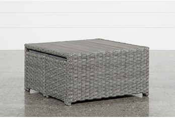 Koro Outdoor Coffee Table With 2 Ottomans