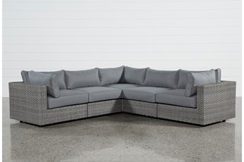 Koro Outdoor 5 Piece Sectional W/3 Corners