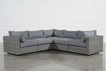 """Koro Outdoor 5 Piece 105"""" Sectional With 3 Corners"""