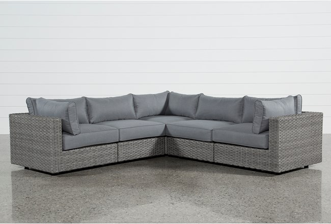 Koro Outdoor 5 Piece Sectional W/3 Corners  - 360
