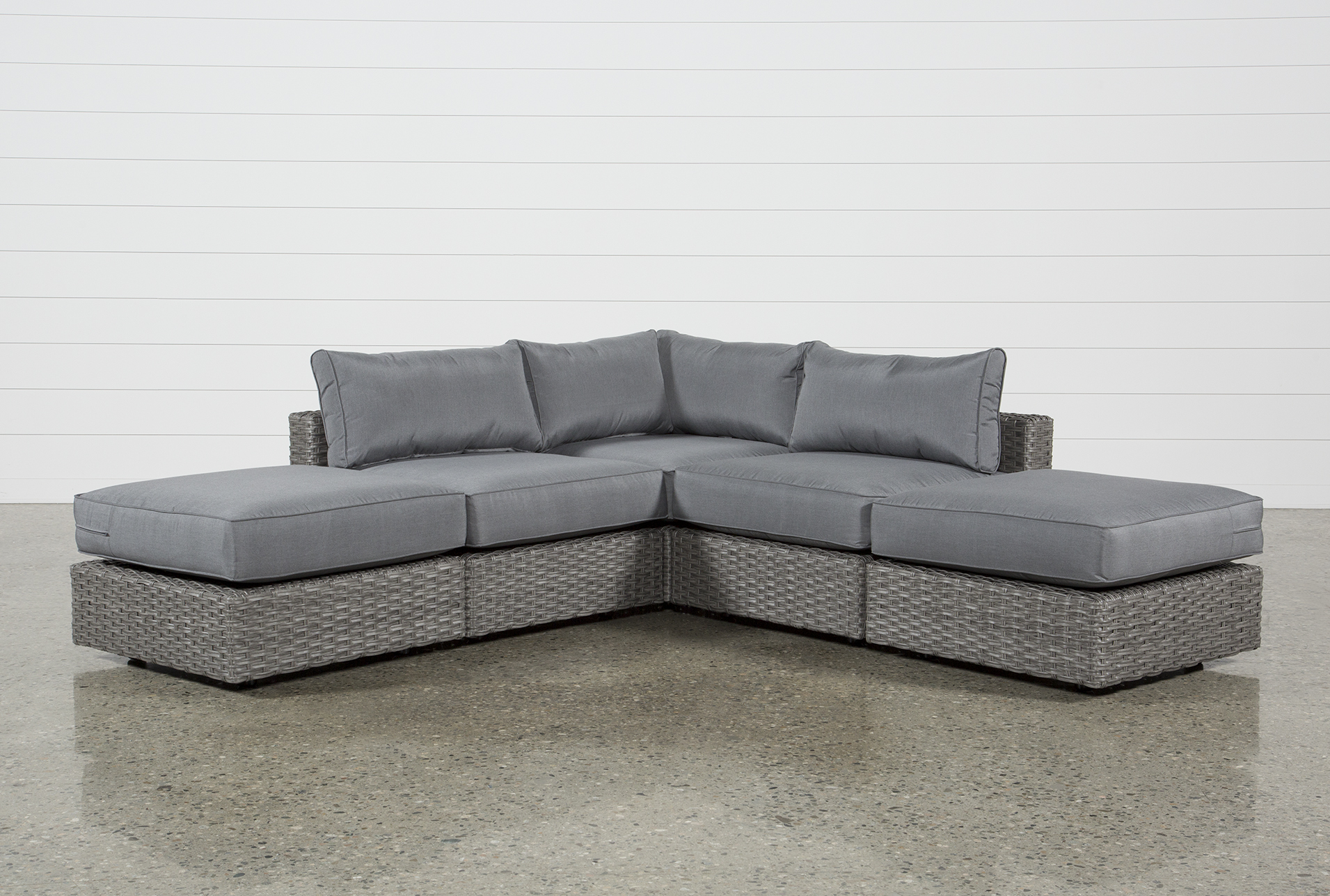 Outdoor Koro 5 Piece Sectional W/2 Ottomans (Qty: 1) Has Been Successfully  Added To Your Cart.
