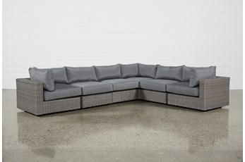 Koro Outdoor 6 Piece Sectional W/3 Corners
