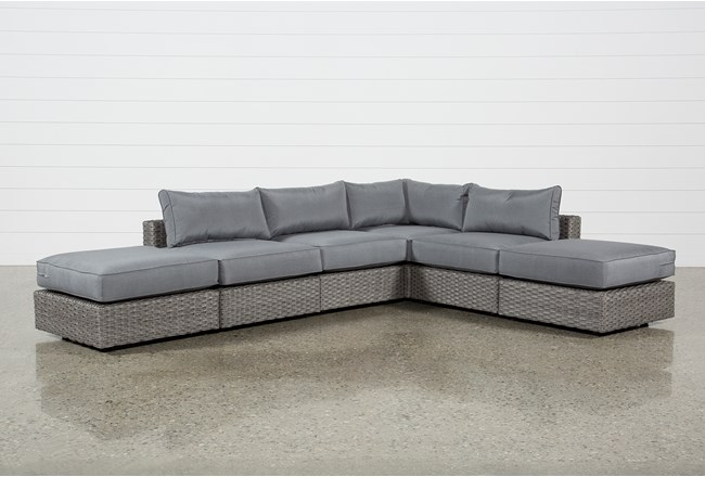 Koro Outdoor 6 Piece Sectional W/2 Ottomans  - 360