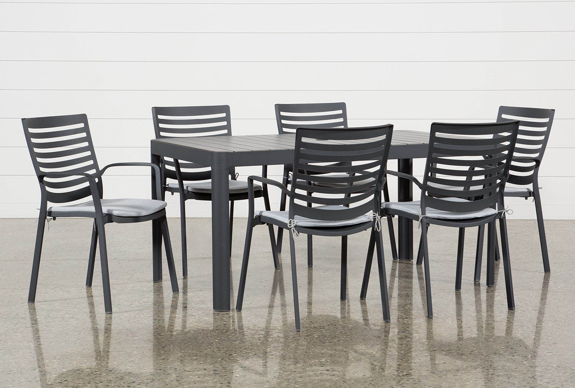 7 piece outdoor dining set belleville outdoor andaz piece dining set qty 1 has been successfully added to your cart living spaces