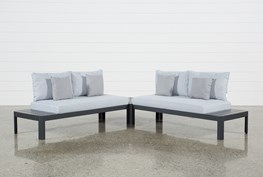 Outdoor Andaz 2 Piece Sectional & Coffee Table