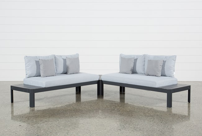 Outdoor Andaz 2 Piece Sectional & Cocktail Table - 360