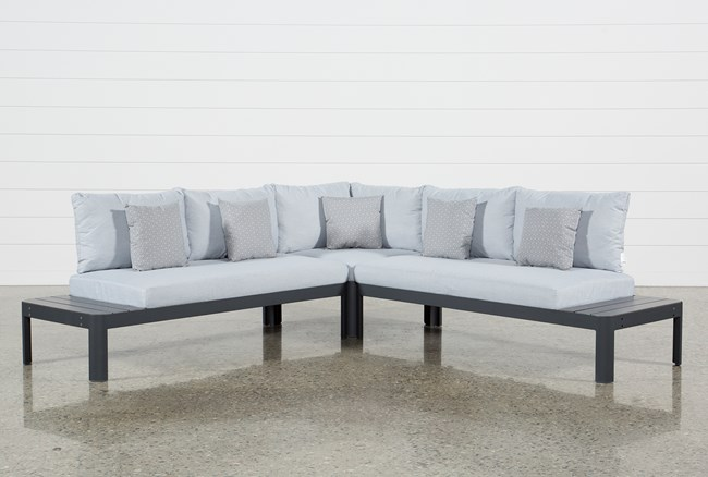 Outdoor Andaz 3 Piece Sectional - 360