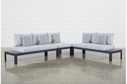 Outdoor Andaz 3 Piece Sectional & Cocktail Table - Main
