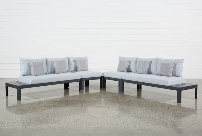 Outdoor Andaz 4 Piece Sectional & Coffee Table - 360