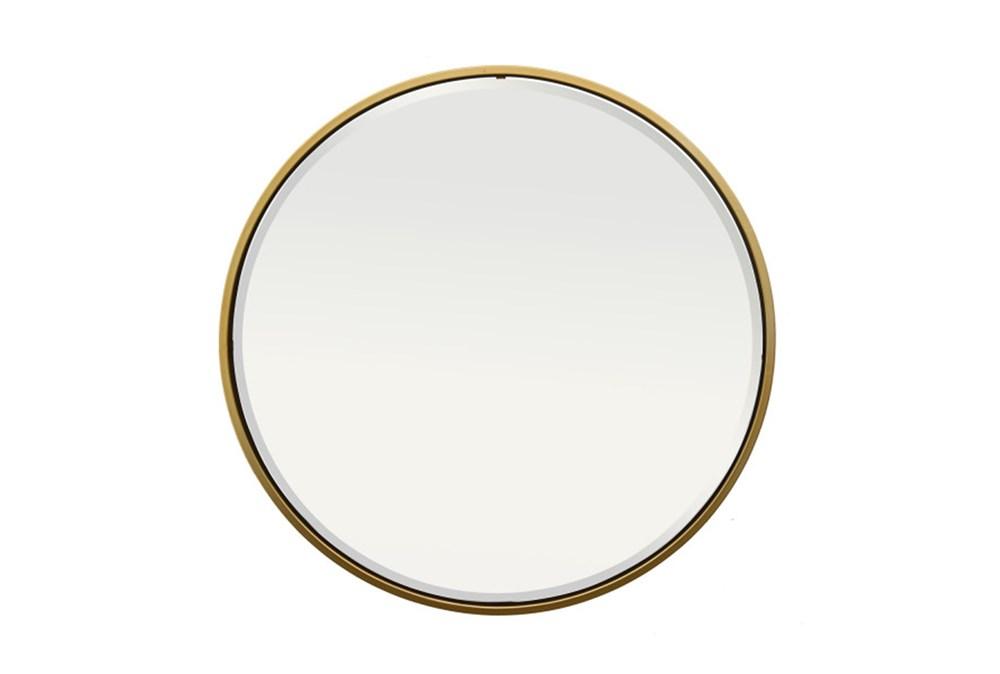 Mirror-Thin Gold Trim 36 Inch Round