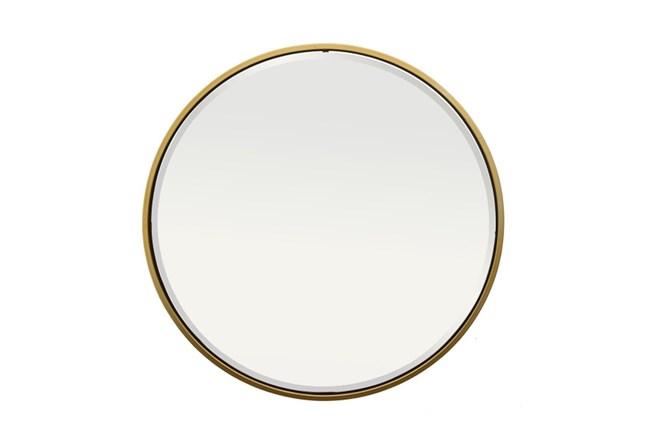 Mirror-Thin Gold Trim 36 Inch Round - 360