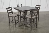 Jameson Grey 5 Piece Counter Set - Left