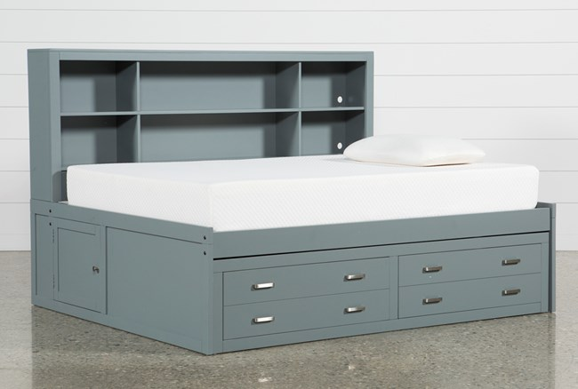 Hayden Grey Full Roomsaver Bed - 360