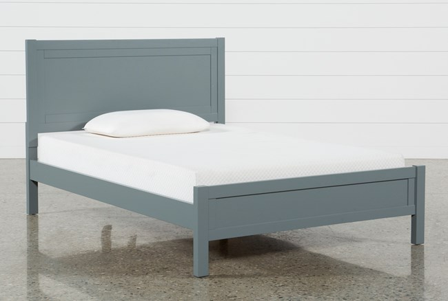 Hayden Grey Full Panel Bed - 360