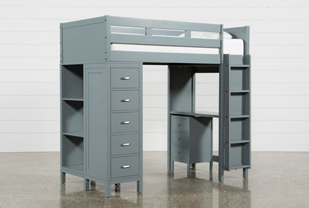 Hayden Grey Loft Bed