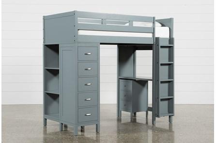 Hayden Grey Loft Bed - Main