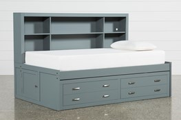 Hayden Grey Twin Roomsaver Bed