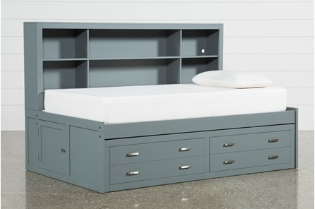 Hayden Grey Twin Roomsaver Bed