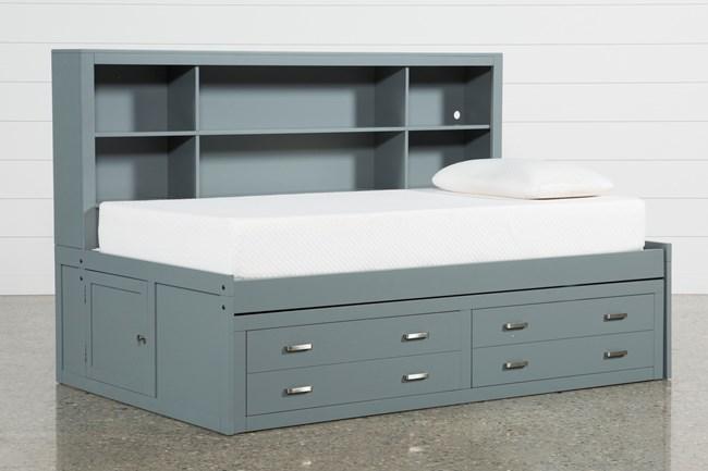 Hayden Grey Twin Roomsaver Bed - 360