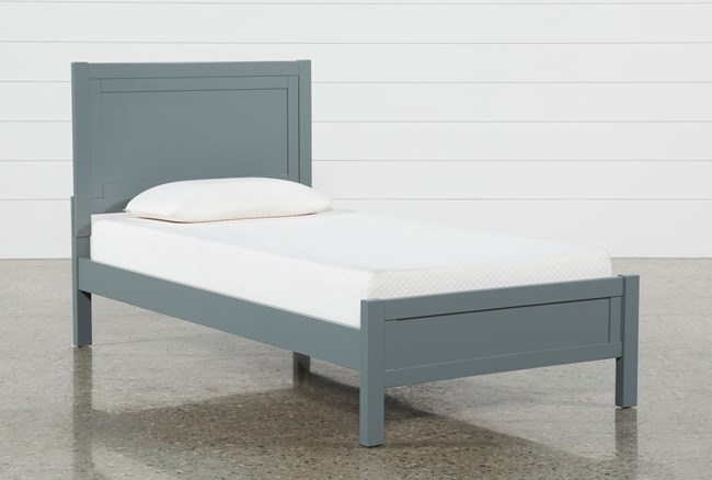 Hayden Grey Twin Panel Bed - 360