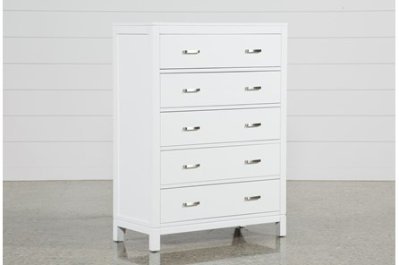 Hayden White Chest Of Drawers - Main